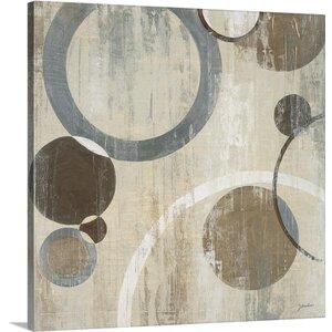 'Orlando Mod Circles I' by Liz Jardine Painting Print on Canvas by Canvas On Demand