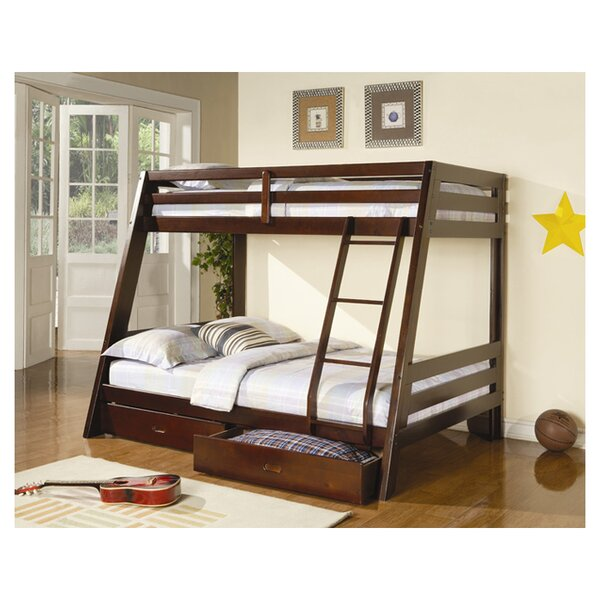 Mullin Twin Over Full Bunk Bed with Drawers by Wildon Home®