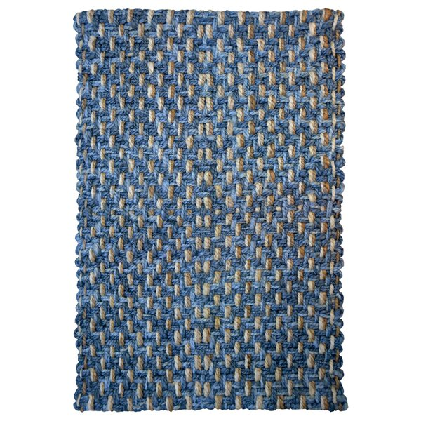 One-of-a-Kind Brionna Hand-Woven Blue Indoor/Outdoor Area Rug by Highland Dunes