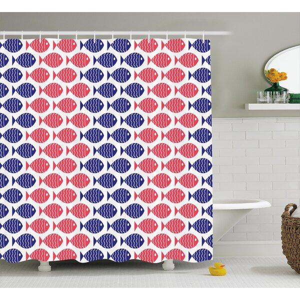 Stephnie Nautical Stephnie Theme Design Shower Curtain by Longshore Tides