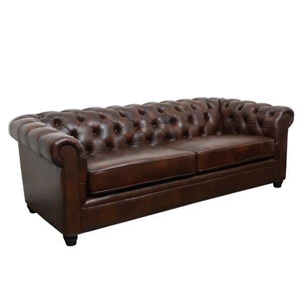 Harlem Leather Chesterfield Sofa by Trent Austin D