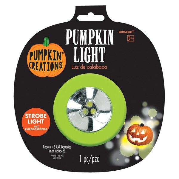 Halloween Pumpkin Strobe Light by Amscan