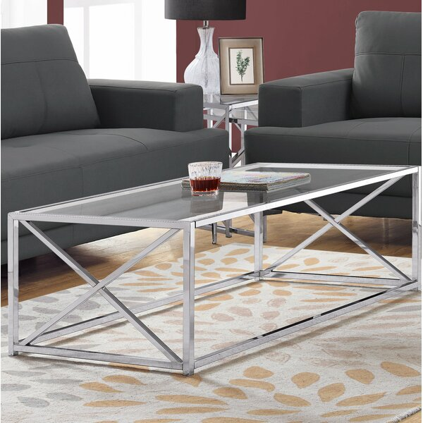 Geise Tempered Glass Coffee Table by Breakwater Bay