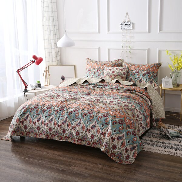 Bohemian Paisley Garden Party Reversible Quilt Set by DaDa Bedding