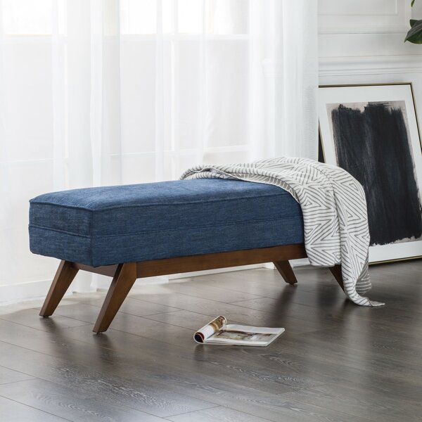 Garman Upholstered Bench By George Oliver by George Oliver Today Only Sale
