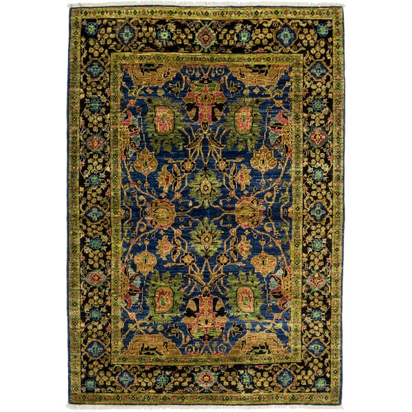 One-of-a-Kind Eclectic Hand-Knotted Blue / Green Area Rug by Solo Rugs