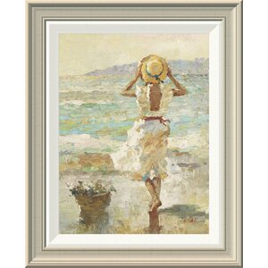 'Seaside Summer I' by Vitali Framed Painting Print by Global Gallery