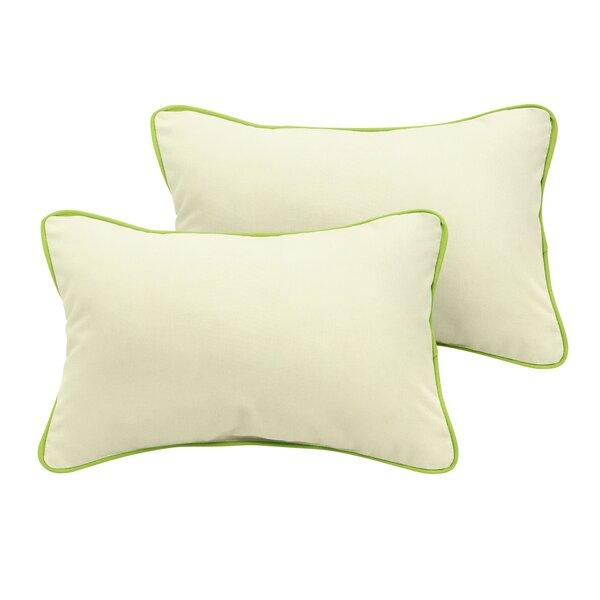 Minneola Sunbrella Outdoor Lumbar Pillow (Set of 2) by Rosecliff Heights