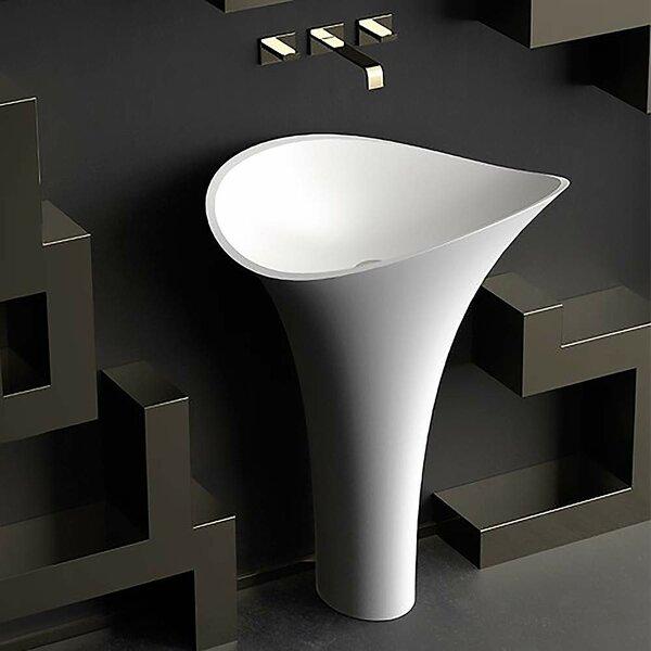 Vivian Glass Pedestal Bathroom Sink by Maestro Bath