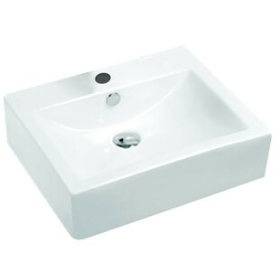 Best Reviews Vitruvius Series Vitreous China Rectangular Vessel Bathroom Sink with Overflow By ANZZI