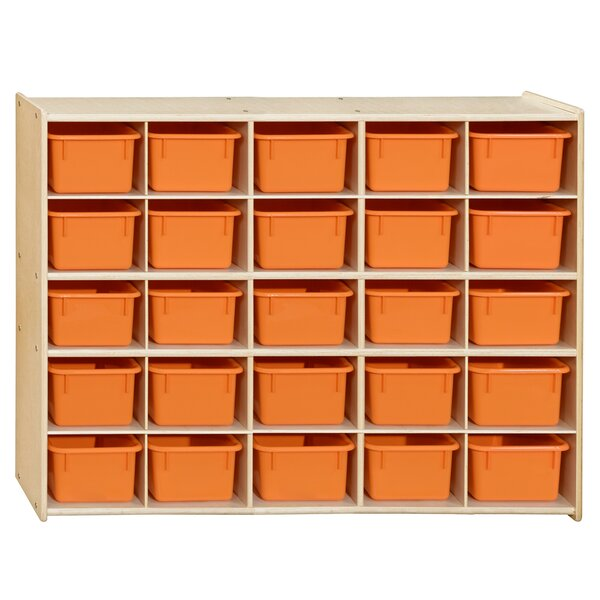 Clarendon 25 Compartment Cubby with Trays by Symple Stuff