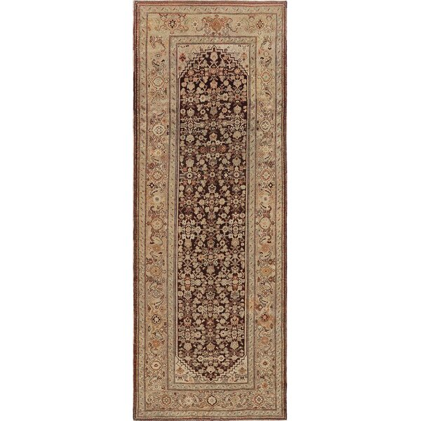 One-of-a-Kind Antique Karabagh Handwoven Wool Brown/Beige Indoor Area Rug by Mansour