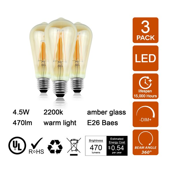 40W E26 Dimmable LED Edition Stick Light Bulb Amber by Retrofit Lighting