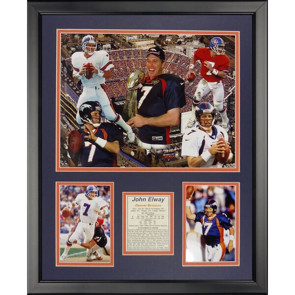NFL Denver Broncos - Elway Collage Framed Memorabili by Legends Never Die
