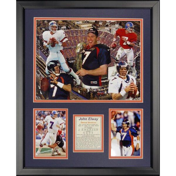 NFL Denver Broncos - Elway Collage Framed Memorabili by Legends Never Die