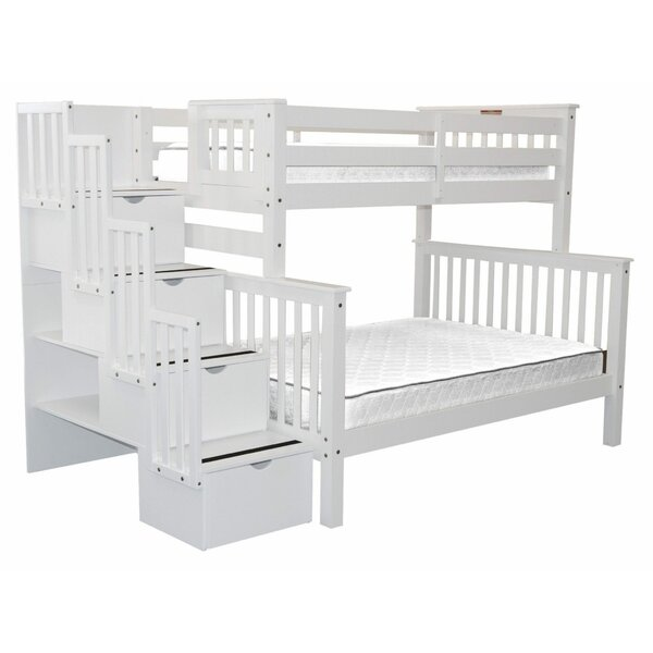 Tena Twin Over Full Bunk Bed with Drawers by Harriet Bee