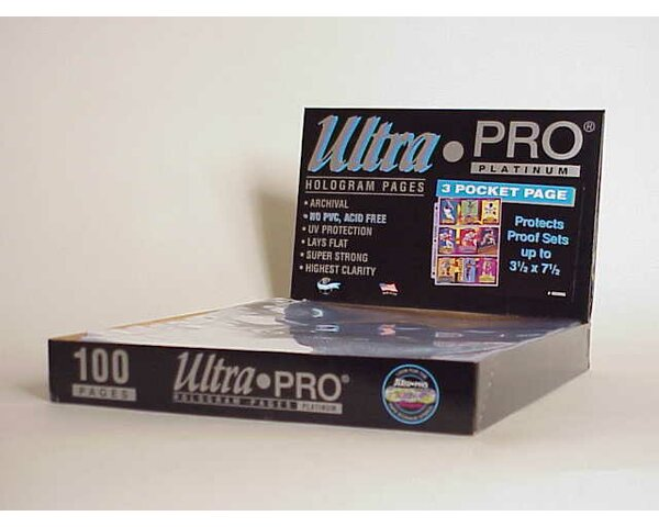 7.5 x 3.5 Proof Sets Display Box (3 Pocket Pages) by Ultra Pro