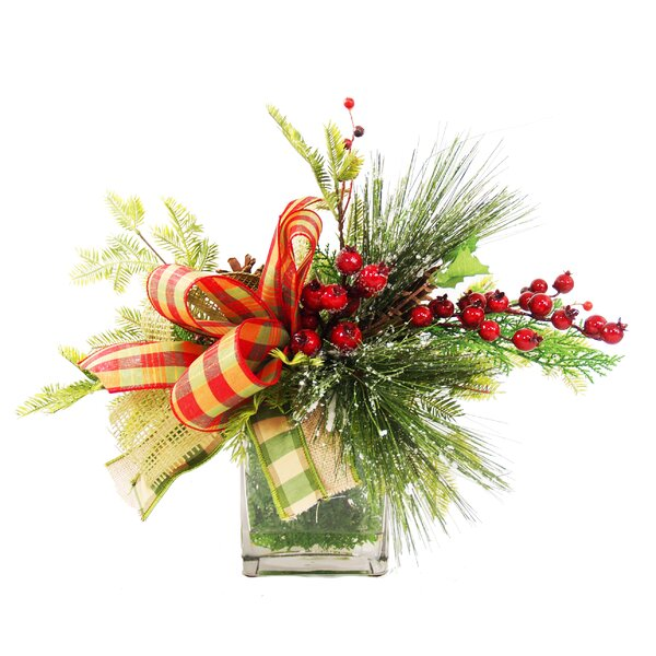Frosted Pine Berry Arrangement by Darby Home Co