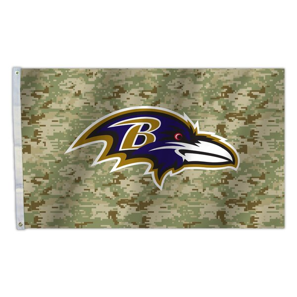 NFL Camo Polyester 3 x 5 ft. Flag by Fremont Die