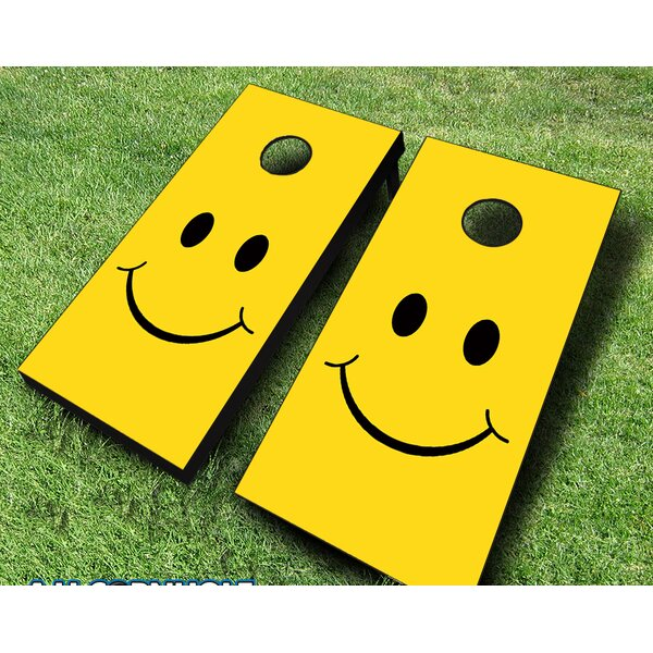 10 Piece Smiley Cornhole Set by AJJ Cornhole