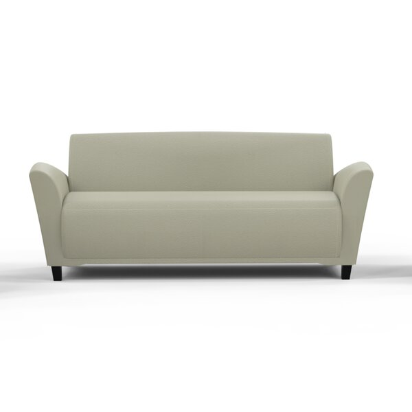 Lounge Series Santa Cruz Leather Sofa by Mayline Group