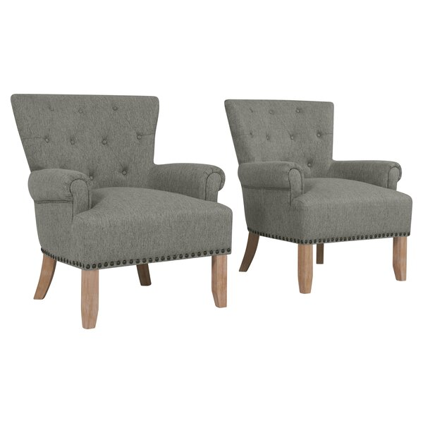 Ryde Button Tufted Armchair (Set Of 2) By Gracie Oaks Top Reviews