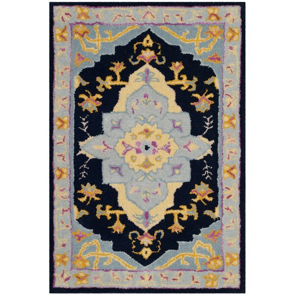 Blokzijl Hand-Tufted Navy Blue Area Rug by Bungalow Rose
