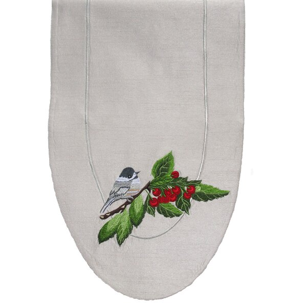 Chickadee Table Runner by Golden Hill Studio