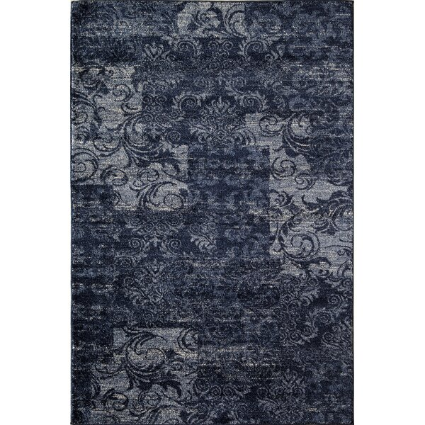 Blue/Black Area Rug by The Conestoga Trading Co.