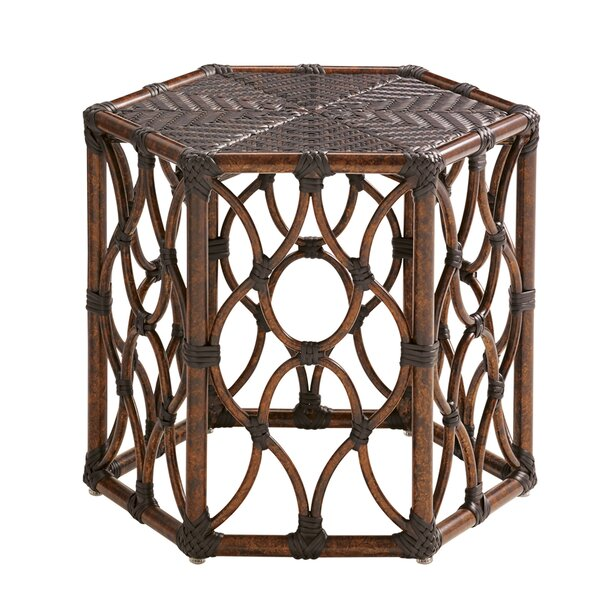 Royal Kahala Wicker Rattan Side Table by Tommy Bahama Outdoor