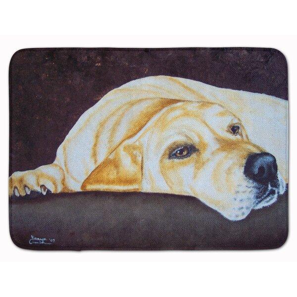 Rayland Naptime Labrador Memory Foam Bath Rug by Red Barrel Studio