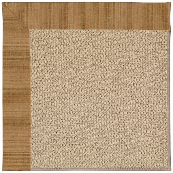 Lisle Machine Tufted Golden Indoor/Outdoor Area Rug by Longshore Tides