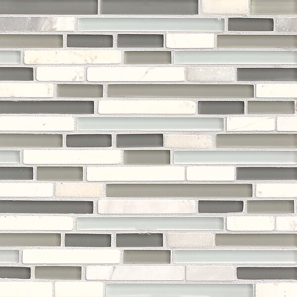 Carlisle 12 x 12 Mosaic Linear Blend Tile in Vale by Grayson Martin