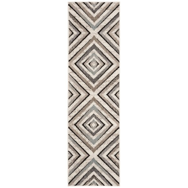 Alioth Cream/Beige Geometric Area Rug by Wrought Studio