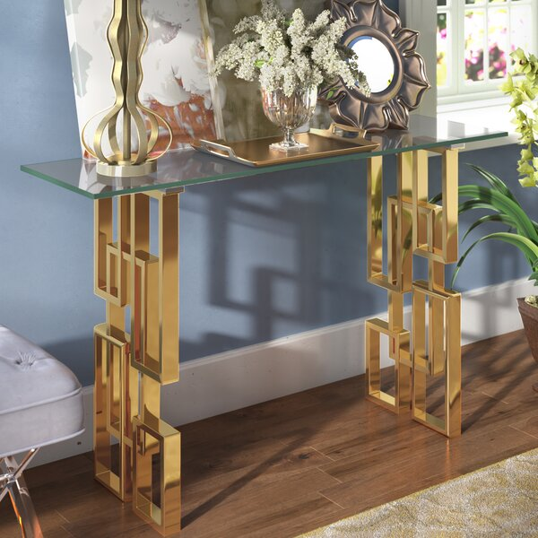 Willa Arlo Interiors Glass Console Tables