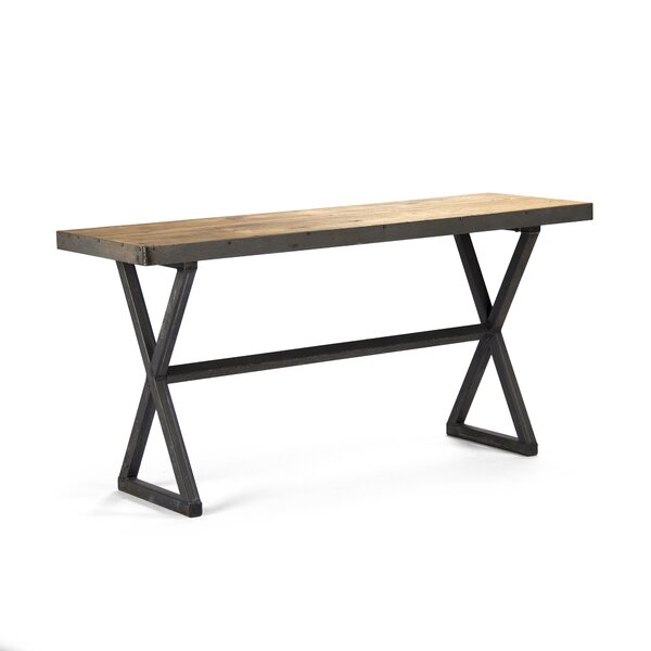 Duclos Recycled Metal Console Table by 17 Stories