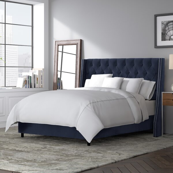 Costello Upholstered Standard Bed by Skyline Furniture