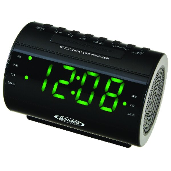 AM/FM Dual-Alarm Radio Tabletop Clock by Jensen
