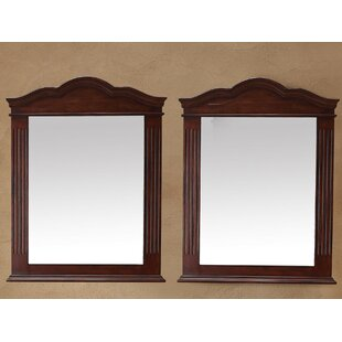 Darby Home Co Mccormick Arch/Crowned Accent Mirror (Set of 2)