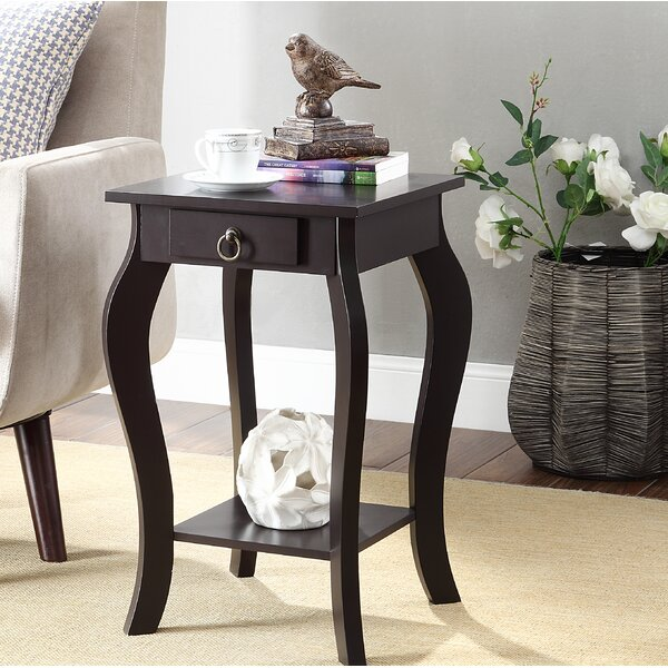 Marcano End Table With Storage By Charlton Home