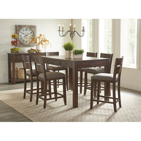 Faizan 5 Piece Counter Height Dining Set by Charlton Home