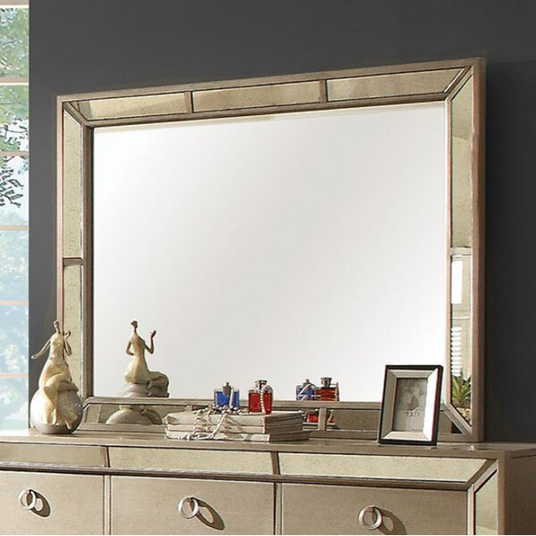 Jaylee Modern Victorian Accent Mirror by Everly Quinn