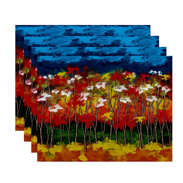 Brookfield Autumn Floral Print Placemat (Set of 4) by Loon Peak