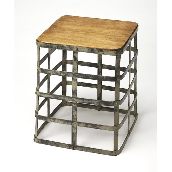 Burdette Gantry Industrial Chic End Table By Williston Forge