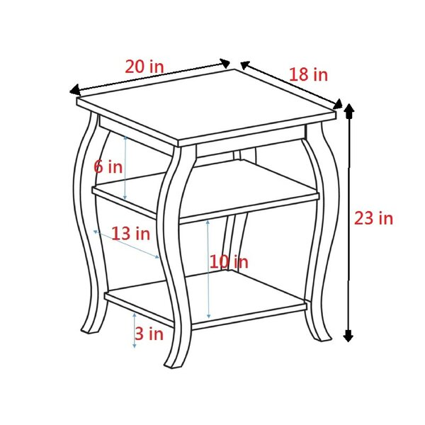 Tenley End Table With Storage By Andover Mills