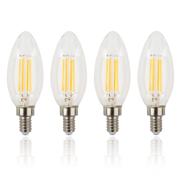 4W E12/Candelabra LED Light Bulb (Set of 4) by Amalfi Decor