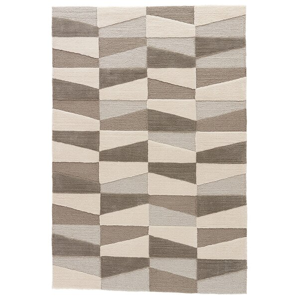 Stephanie Hand-Tufted Silver Lining/Ivory Area Rug by Langley Street