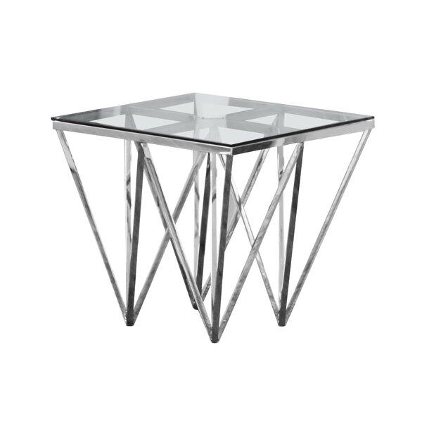 Krogman End Table by Everly Quinn
