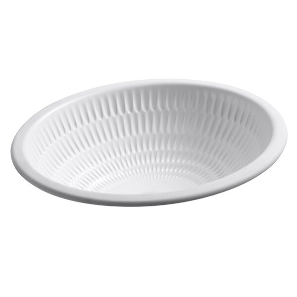 Ricochet Ceramic Oval Undermount Bathroom Sink by Kohler