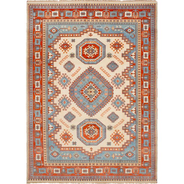 One-of-a-Kind Norene Hand-Knotted Wool Cream Area Rug by Isabelline